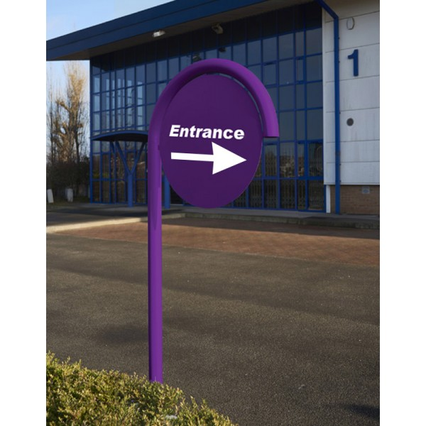 Outdoor Single Post Sign System