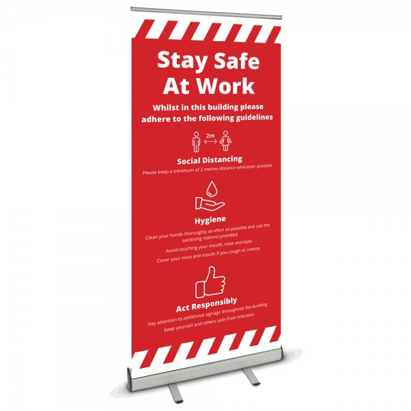 COVID-19 Guidelines Banner - Red