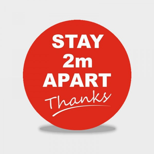 Keep 2m Apart social distancing floor stickers