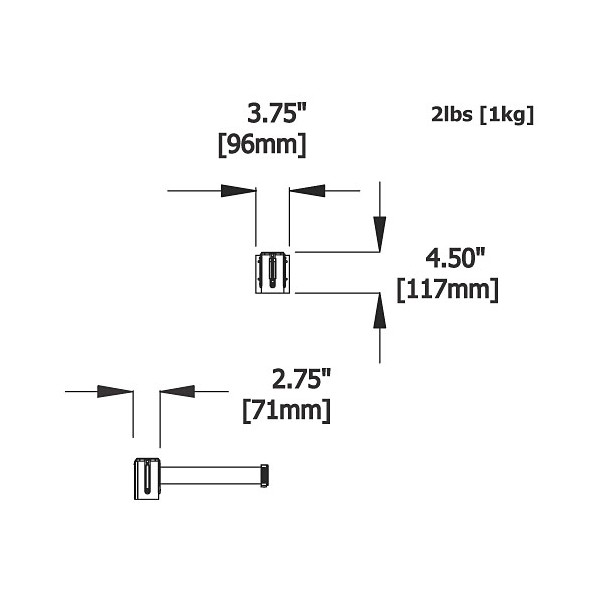 Stretch barrier dimensions