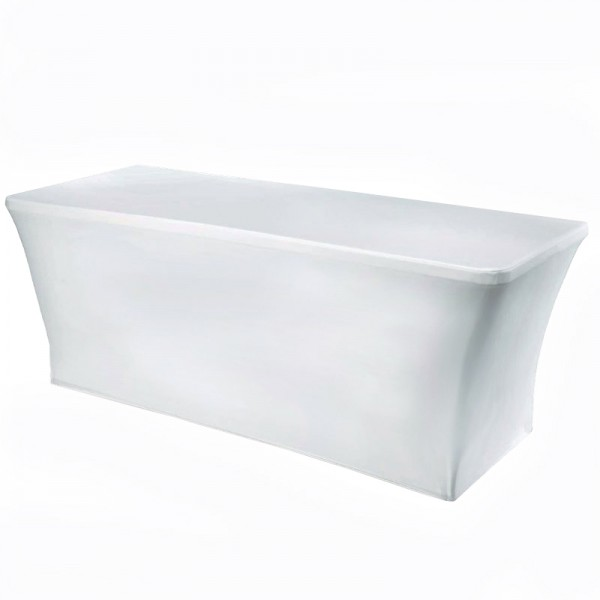 White Stretch Folding Table Cover