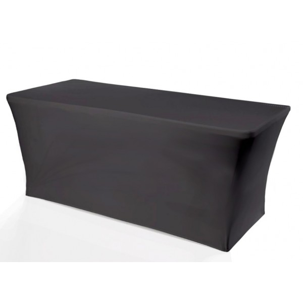 6ft black folding table cover