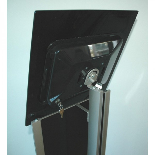 Lockable tablet display holder