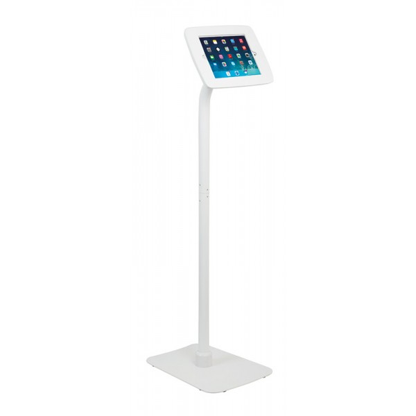 White iPad Tablet Floor Stand - Landscape