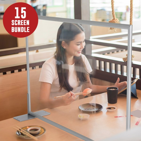 900 x 700mm Table Top Protective Screen - 15 Screen Bundle