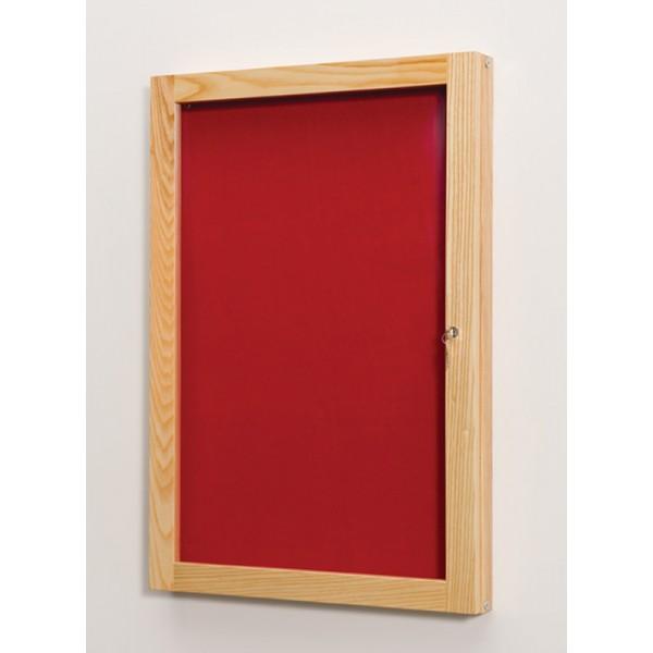 Single door lockable noticeboard