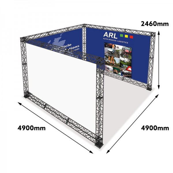 4x4 Exhibition Booth with Measurements