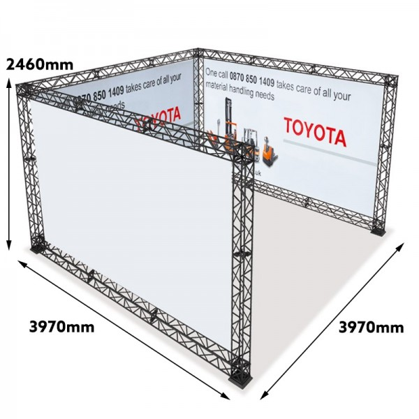 4x4 Modular Trade Show Display With Measurements