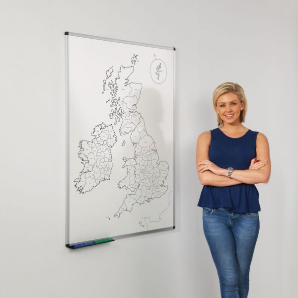 Printed UK county map
