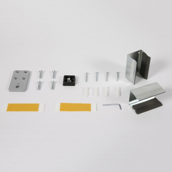 Wall Mounting kit with screws or adhesive strips