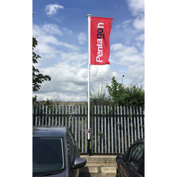 Wall Mounted Forecourt Flag