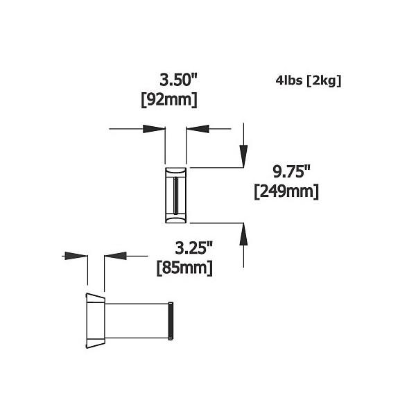 2m Retractable Wall Unit Dimensions