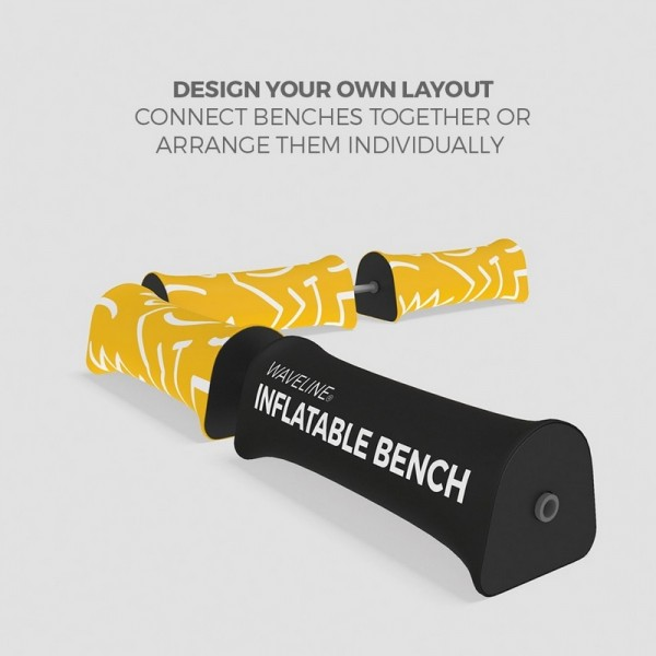 Join multiple benches together with connector (sold separately)