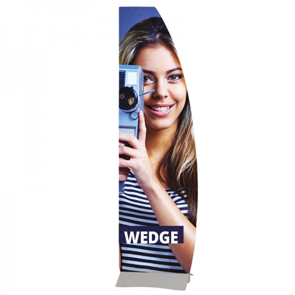 Wedge rigid sign holder