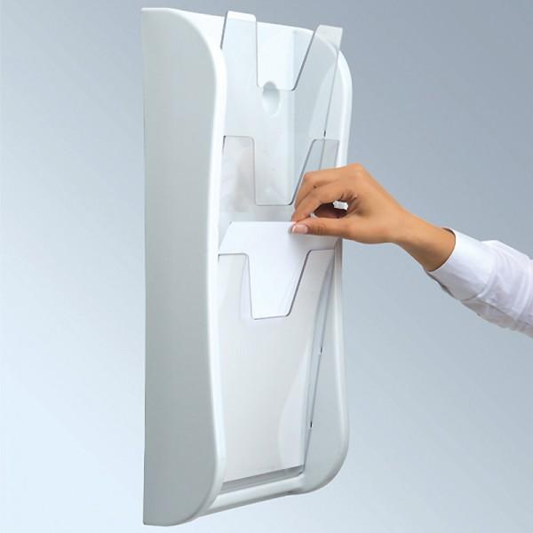 3xA4 Wall Mounted Literature Dispenser