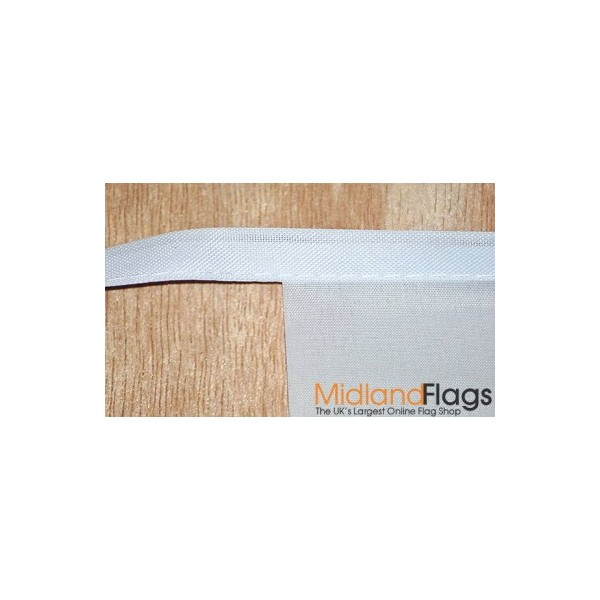 Flags sewn onto tape