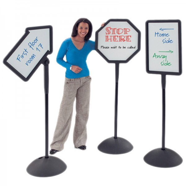 Shaped whiteboard signs