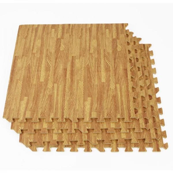 Trade show wood effect floor tiles