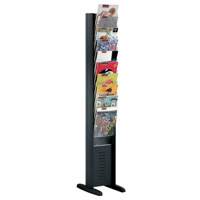 10 Pocket Freestanding Brochure Rack Portable Display Boards