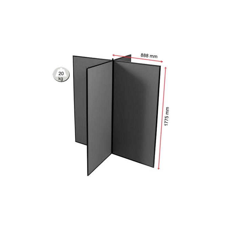 4 Panel Jumbo Slimflex Display Board Plastic Frame