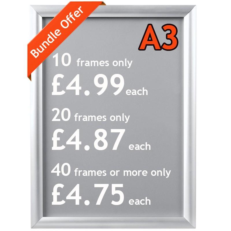 aluminium snap poster frame bundles a4 a3 a2 a1 a0