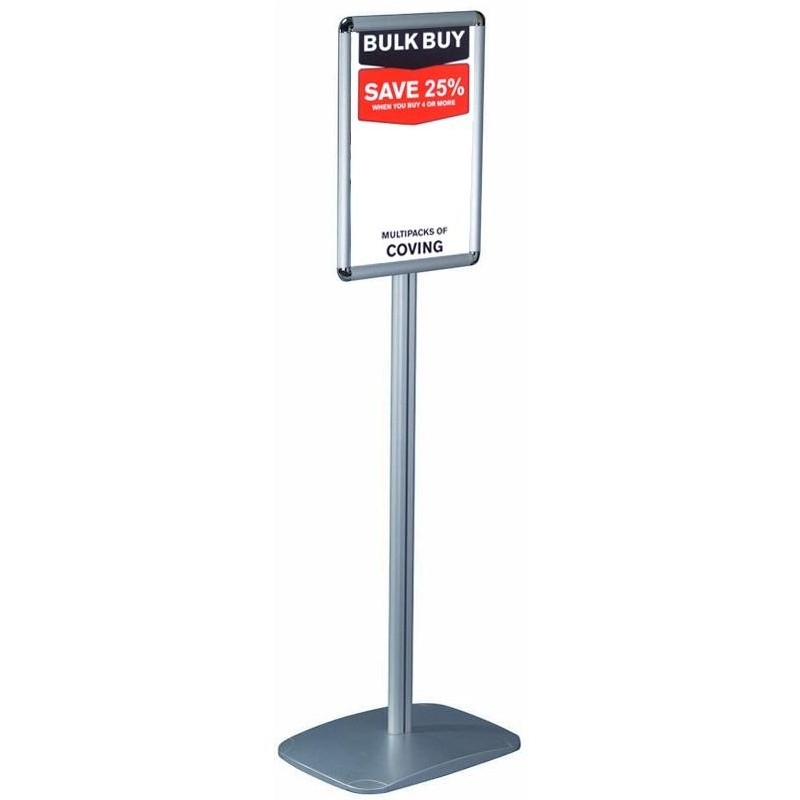 A4 freestanding sign holder display stand discount displays for Exterior standalone retail