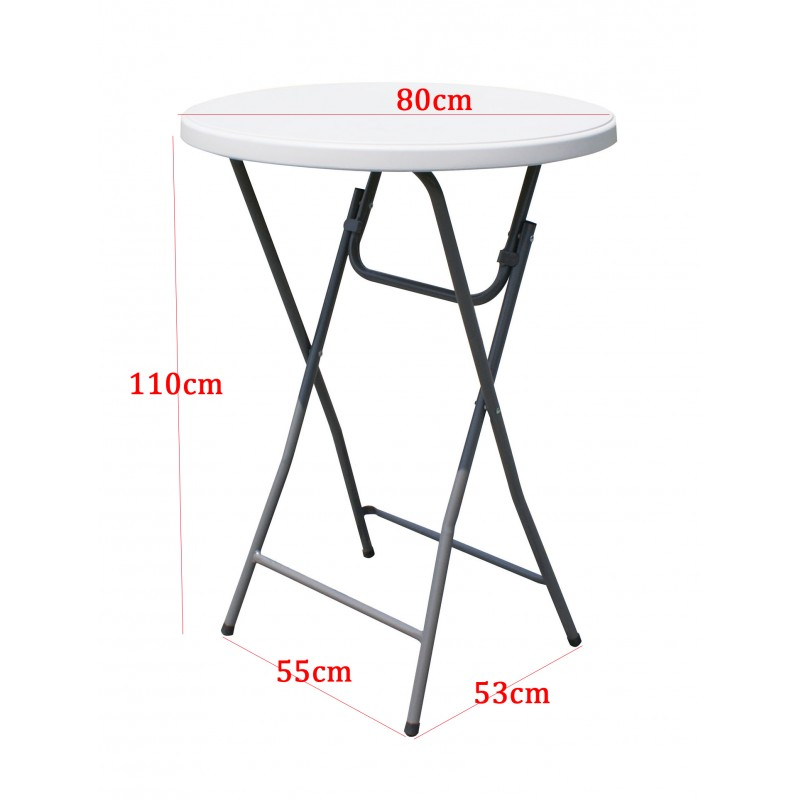 Folding event furniture package for Cocktail tables measurements