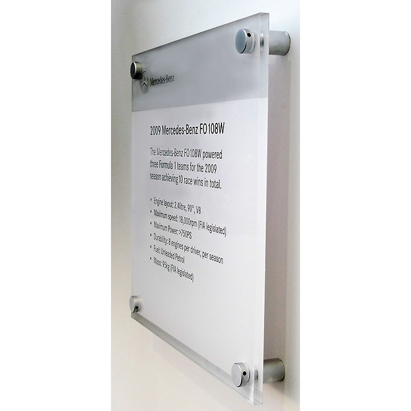 Custom Printed 5mm Acrylic Signs Office Signs