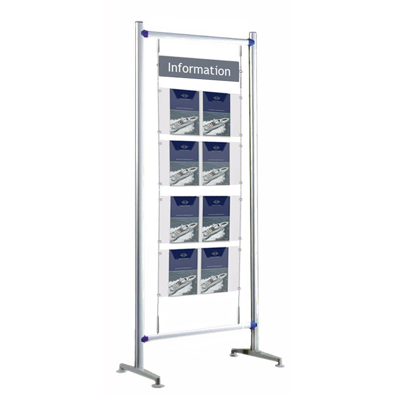 Exhibition Literature Stand : Floor standing literature display information point