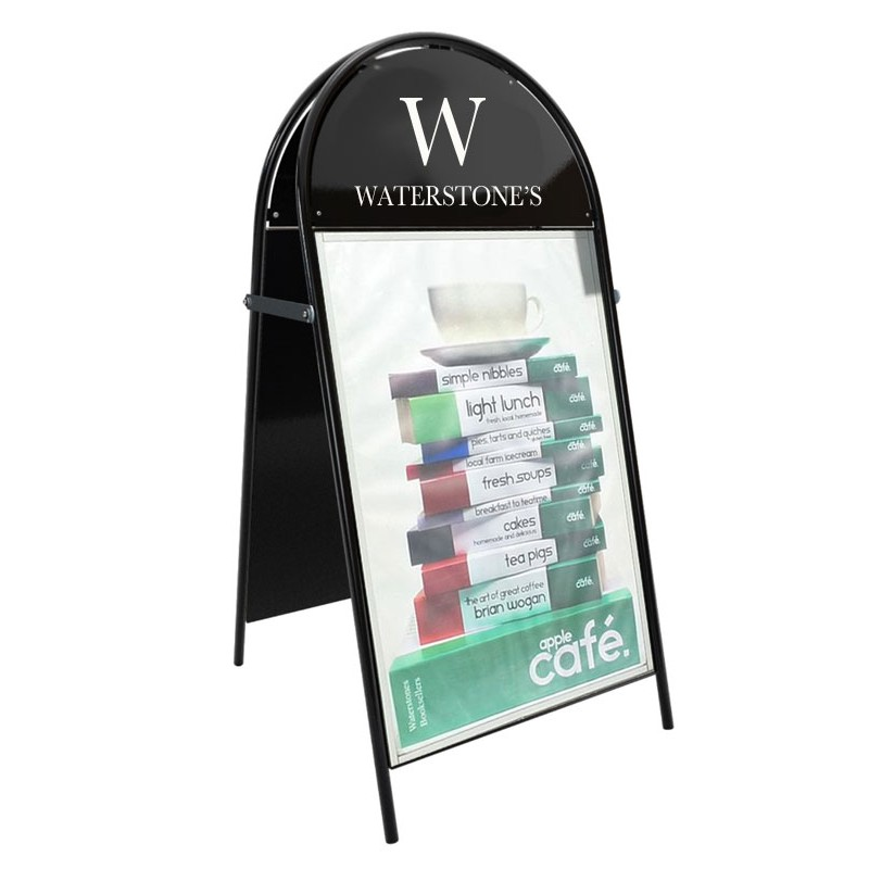 Booster Sandwich Board Pavement Sign Discount Displays