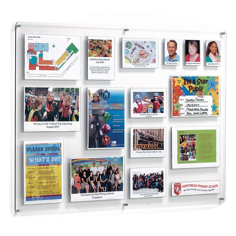 Acrylic School Bulletin Board Discount Displays