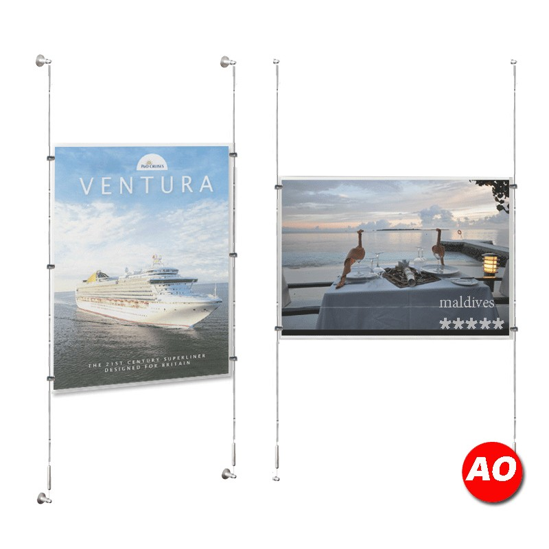 A0 Poster Holder Kit Store Window Displays
