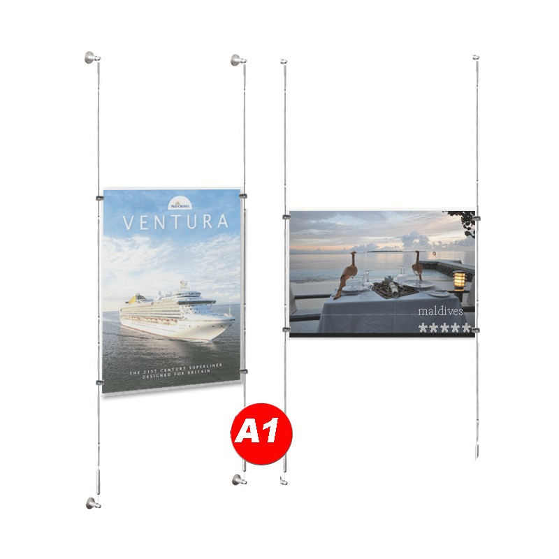 A1 Poster Window Cable Display Systems Discount Displays