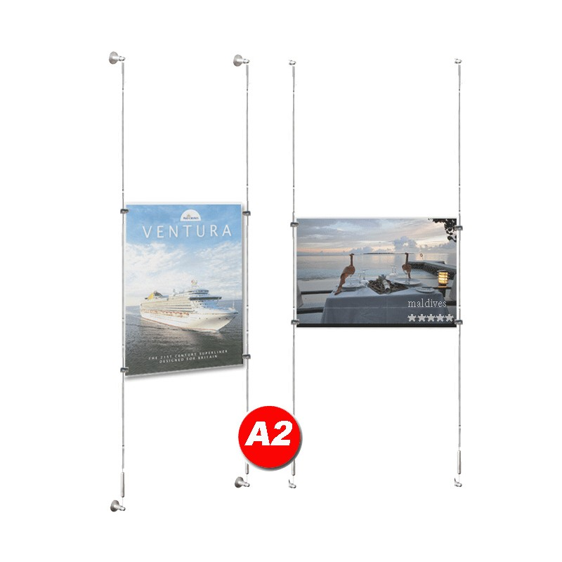 A2 Poster Cable Display Kit Discount Displays