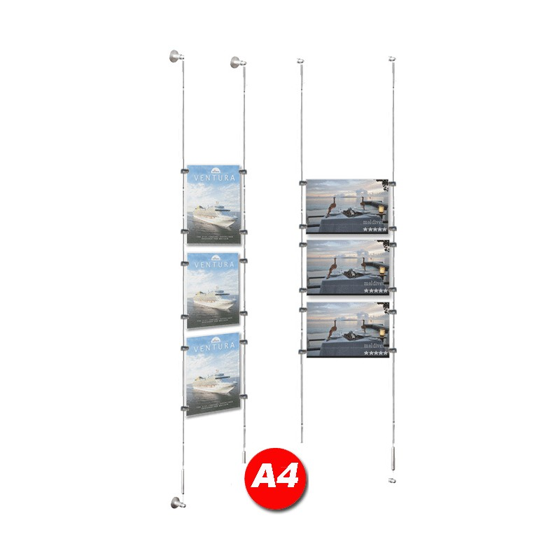 A4 Poster Holder Kit Cable Display Systems Discount