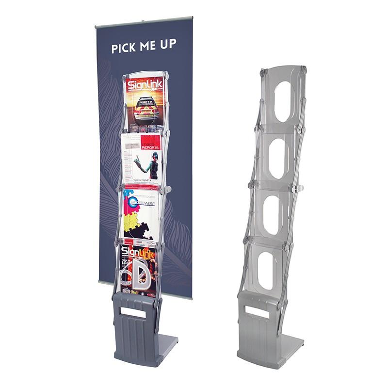 4xa4 Brochure Holder With Banner Display