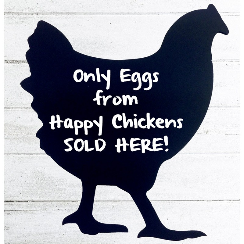 Chicken Shaped Chalkboard Discount Displays