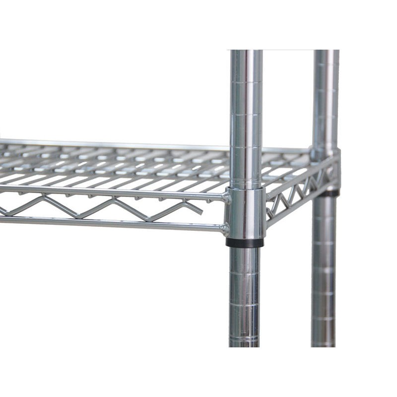4 tier heavy duty chrome wire shelving