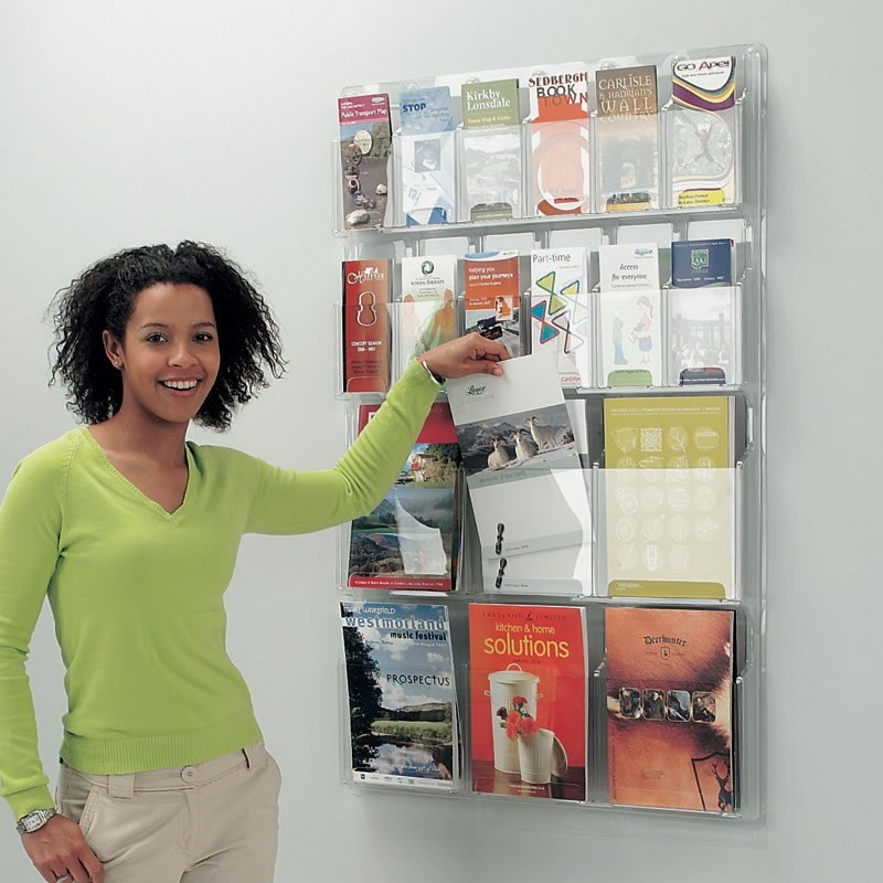 Wall Mounted Acrylic Leaflet Holder Discount Displays