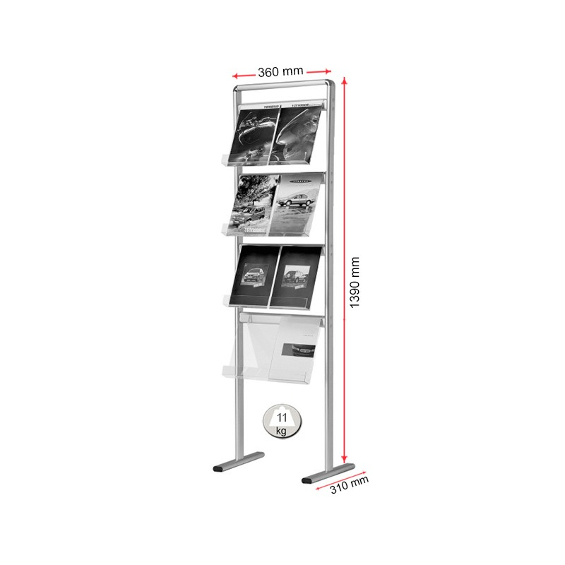 Floor Standing Leaflet And Brochure Holder Display