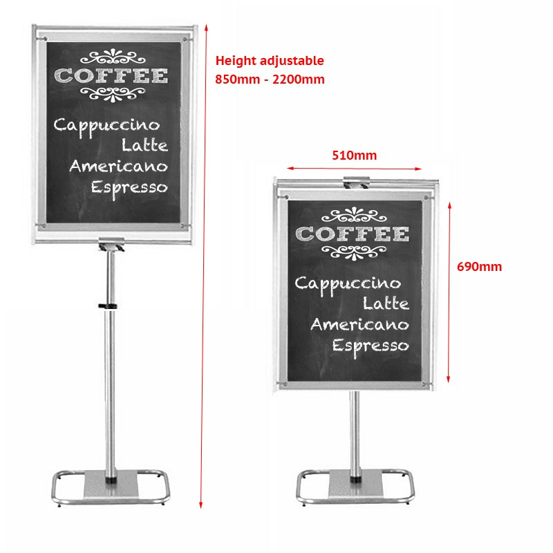 Contemporary Chalkboard Stand Discount Displays