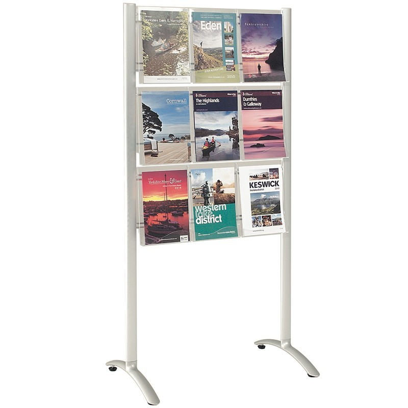 9 Pocket A4 Freestanding Leaflet Dispenser Discount Displays