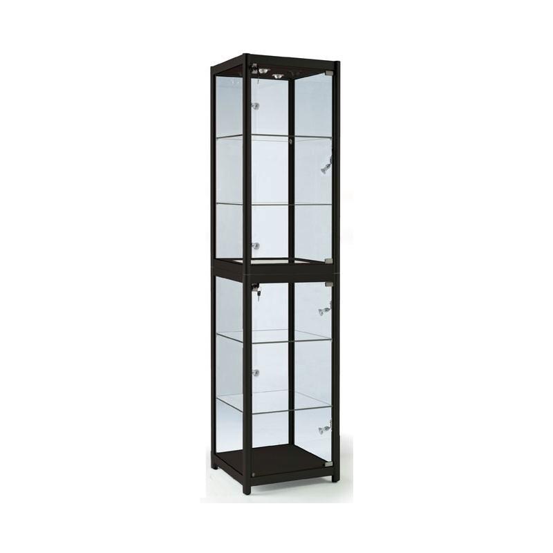 Portable Exhibition Cabinet : Portable tower glass showcase