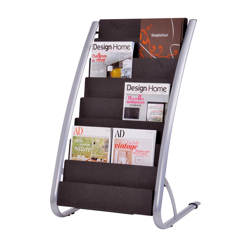 Frosted literature pockets fit easily into frame