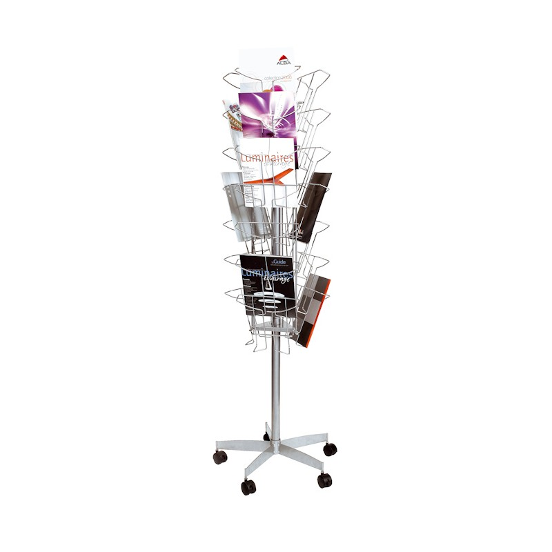 Brochure Carousel Display Rotating Literature Holder