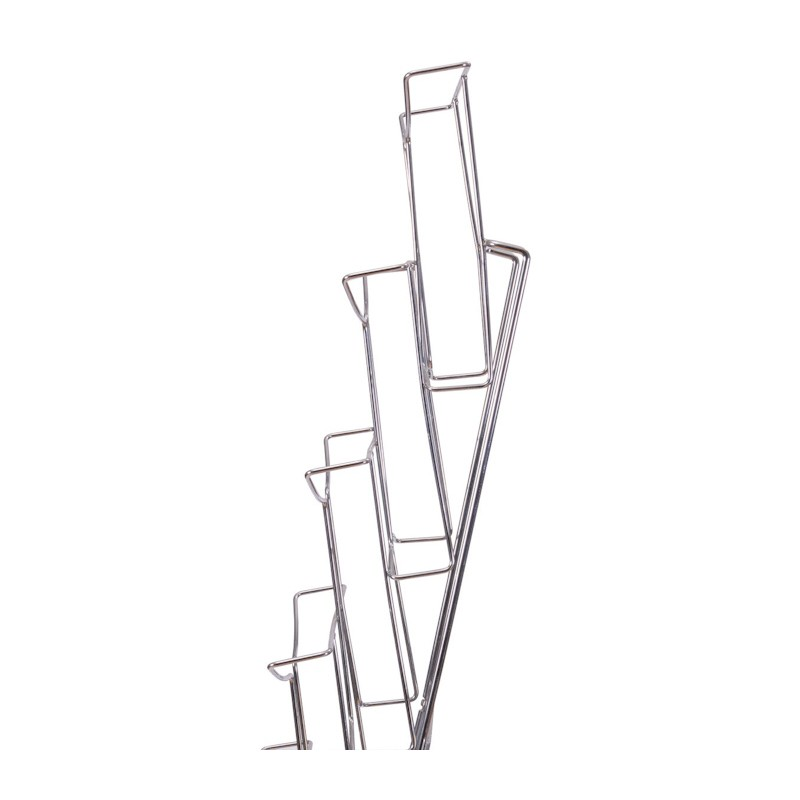 wall mounted wire literature rack