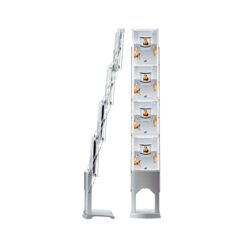Fold Up Brochure Holder Compact Literature Display Rack