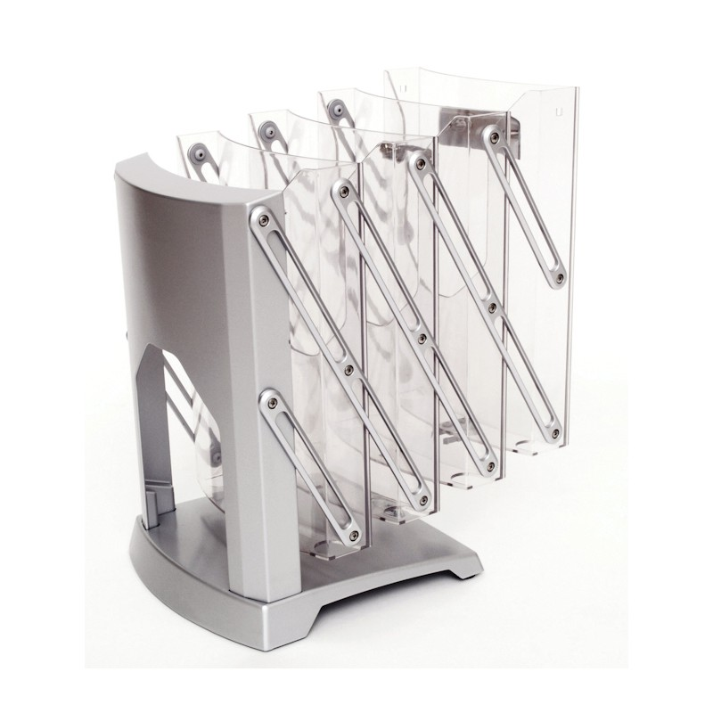 Exhibition Literature Stand : Fold up brochure holder compact literature display rack