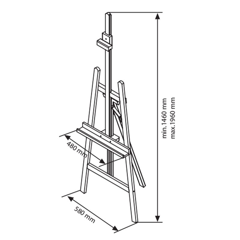 clamp easel dimensions - Display Easel