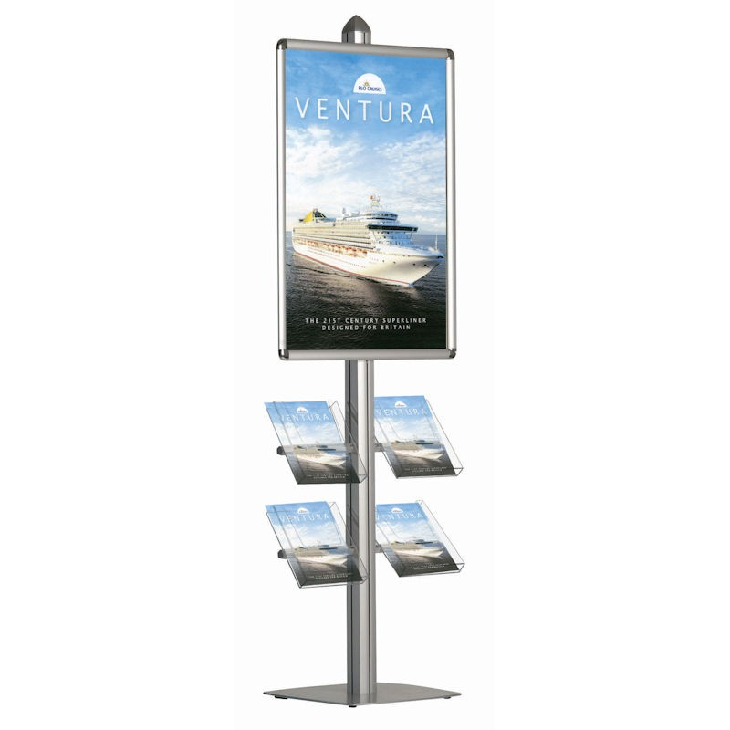 Exhibition Stand Poster Design : A double sided poster display stand discount displays